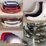 Новые окрашенные бампера Hyundai Solaris и Kia Rio